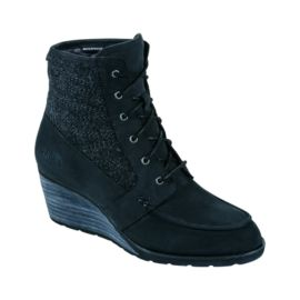 The North Face Bridgeton Women's Wedge Lace Casual Boots - Black / Black