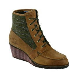 The North Face Bridgeton Women's Wedge Lace Casual Boots - Brown / Green