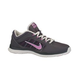 Nike Women's Flex Trainer 4 Training Shoes - Dark Grey/Purple/White