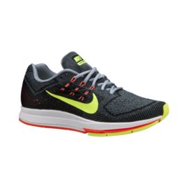 Nike Men's Air Zoom Structure 18 Running Shoes - Grey/Orange/Volt Green