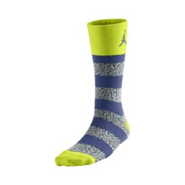 Nike Air Jordan Elephant Striped Men's Crew Socks - 1 Pair Pack