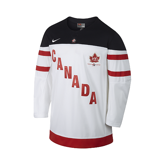 c813c2855427 Nike Hockey Canada Twill 1.4 Men s Hockey Jersey - White