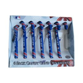 Toronto Blue Jays Candy Cane Ornaments (6pk)