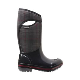 Bogs Women's Plimsoll Prince of Wales Tall Winter Boots - Black