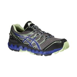 ASICS Women's Gel Fuji Sensor 3 GTX Trail Running Shoes - Grey/Purple/Mint Green
