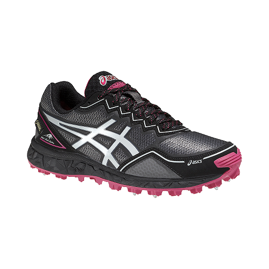 e6222247 ASICS Women's Gel Fuji Setsu GTX Trail Running Shoes - Black/Pink/White |  Sport Chek