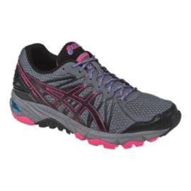ASICS Women's Gel Fuji Trabuco 3 Trail Running Shoes - Charcoal/Black/Pink