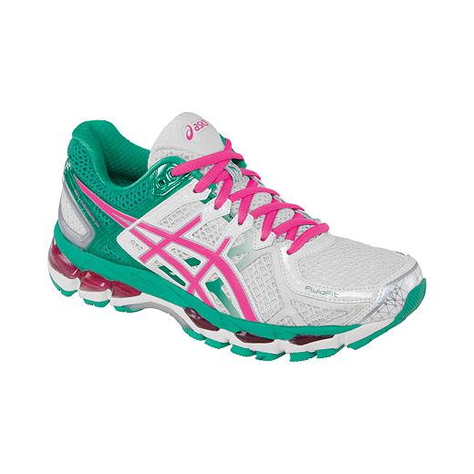 ASICS - Chaussures de course   pour pour femme Gel Kayano - 21 - Blanc/ Vert/ Rose   2960252 - pandorajewelrys70offclearance.website