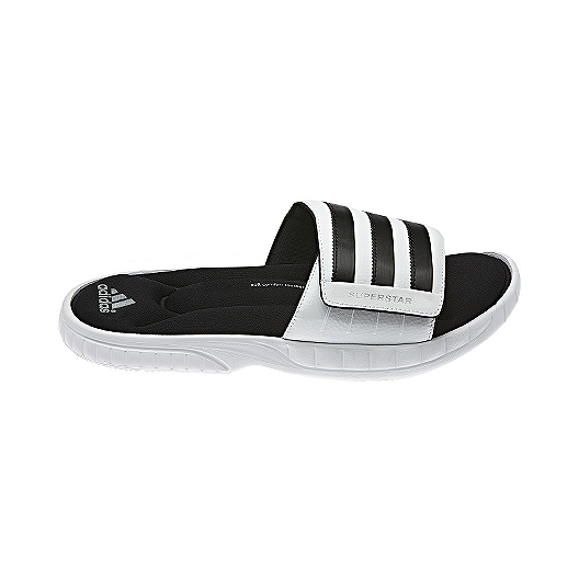 dc4a19c78024 adidas Men s Superstar 3G Slides Sandals - White Black
