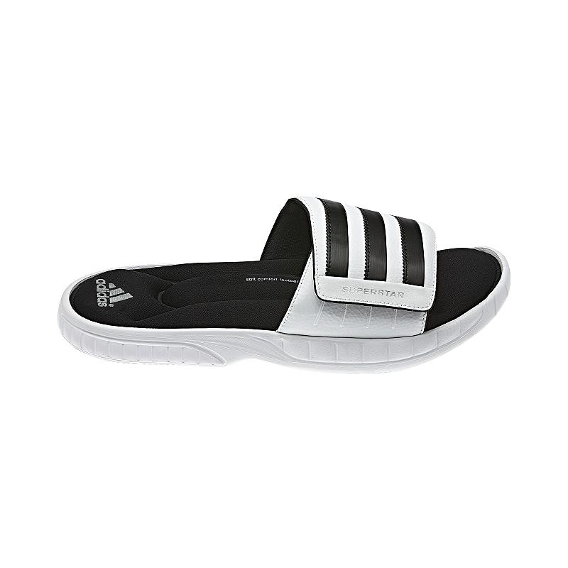 adidas Men s Superstar 3G Slides Sandals - White Black  dbed18ea2