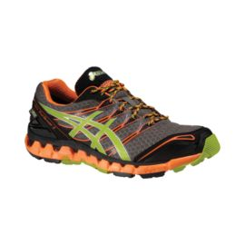 ASICS Gel Fuji Sensor 3 GTX Men's Trail Running Shoes - Black/Orange/Green