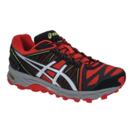 ASICS Men's Gel Fuji Trabuco 2 Trail Running Shoes - Red/Black/Lime Green