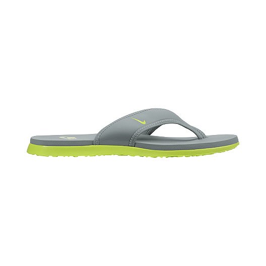 94d4e480495e Nike Men s Celso Thong Plus Sandals - Grey Green