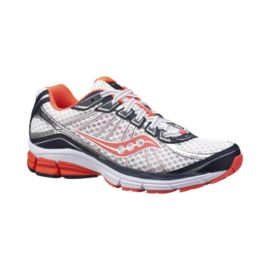 Saucony Women's ProGrid Jazz 17 Running Shoes - White/Orange/Navy