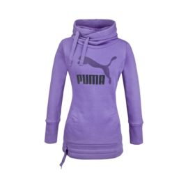 PUMA Long Women's Pullover Hoody - Dark Blue