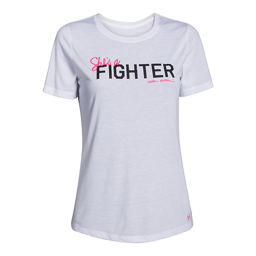 14d8f3f3 Under Armour Power In Pink® She's A Fighter Women's T-Shirt | Sport Chek