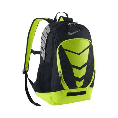 nike max air vapor backpack black\/volt\/blue