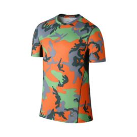 Nike Pro Combat Hypercool Fitted Woodland Men's Short Sleeve Top