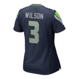 Seattle Seahawks Russell Wilson Game Team Navy Football Jersey