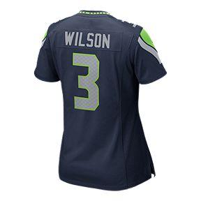 Seattle Seahawks Russell Wilson Game Team Navy Football Jersey 1d0ea6644