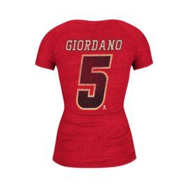 Calgary Flames Women's Mark Giordano Her CCM Women's Player Tee - Red