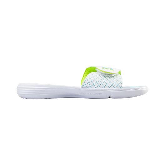 4c0e2a45a5b6 Under Armour Women s Micro G EV Sandals - White Blue Green