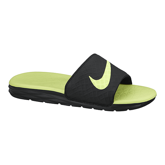 fd4cbbc47928 Nike Men s Benassi Solarsoft Slide 2 Sandals - Black Green