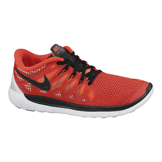 81adaba611aed Nike Kids  Free Run 5.0 Grade School Running Shoes - Crimson Black Lava