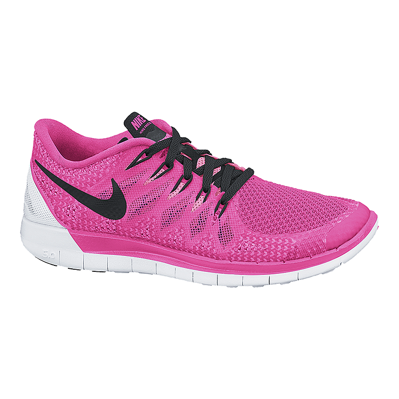 57db1a5acced Nike Women s Free 5.0 2014 Running Shoes - Pink White