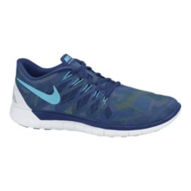 Nike Women's Free 5.0 2014 Print Running Shoes - Royal Blue/Green Pattern