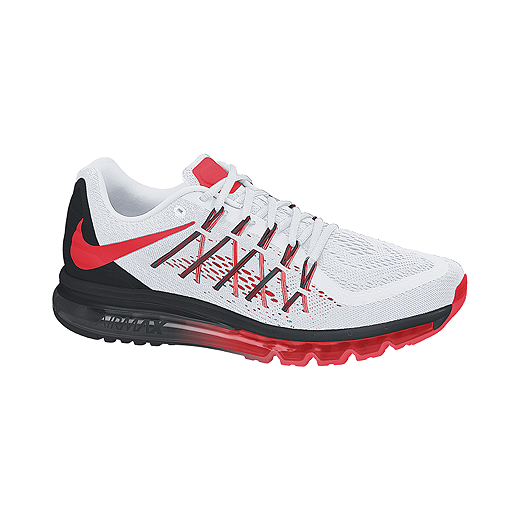 competitive price d5707 4550e Nike Men s Air Max 2015 Running Shoes - White Red Black   Sport Chek