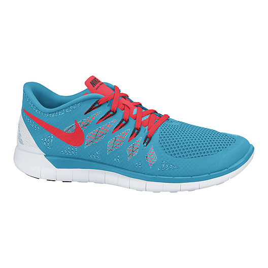 sports shoes 81f5d d0962 Nike Men's Free 5.0 2014 Running Shoes - Blue/Red/White ...