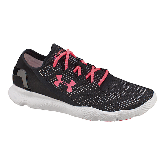 official photos ab93a ab40e Under Armour Women's SpeedForm Apollo Vent Running Shoes - Black/Pink |  Sport Chek