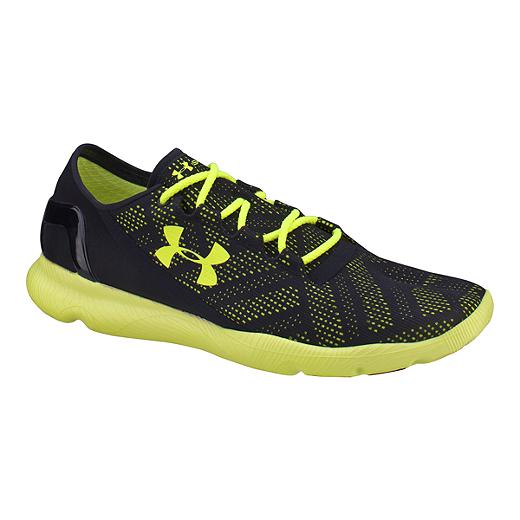 the latest f7f4c 22077 Under Armour Men's SpeedForm Apollo Vent Running Shoes - Black/Yellow