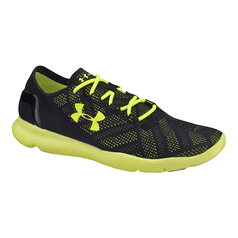 the latest 71f74 5a8ef Under Armour Men's SpeedForm Apollo Vent Running Shoes - Black/Yellow