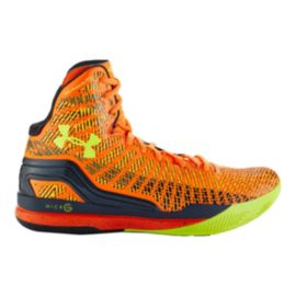 Under Armour Men's ClutchFit Drive Basketball Shoes - Orange/Navy Blue/Lime