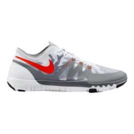 Nike Men's Free Trainer 3.0 V3 NRG Training Shoes - White/Grey Pattern/Red