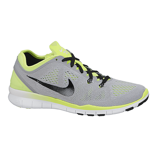 reputable site 48cda a9252 Nike Women's Free 5.0 TR Fit 5 Training Shoes - Grey/Volt ...
