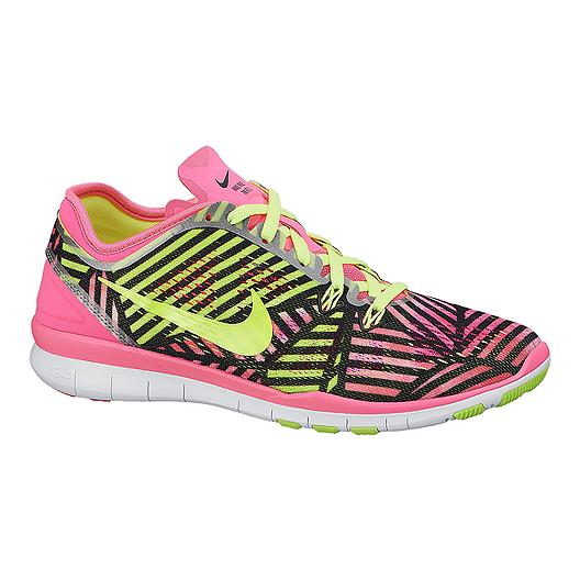 d7acf6bd57ae7 Nike Women's Free 5.0 TR Fit 5 Print Training Shoes - Pink/Black  Pattern/Volt | Sport Chek
