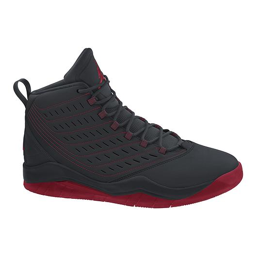 huge selection of fc962 e1a14 Nike Men s Jordan Velocity Basketball Shoes - Black Red   Sport Chek