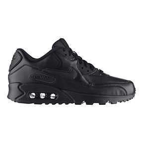 best website 85dc8 7ab9a Nike Mens Air Max 90 Leather Shoes - Black
