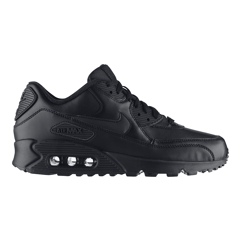 Nike Men's Air Max 90 Leather Shoes Black