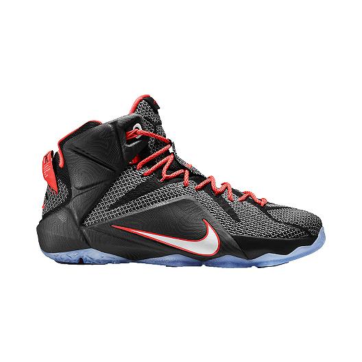 2b770c362f17d Nike Men s LeBron 12 Basketball Shoes - Grey Black Orange