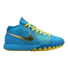 Nike Kids' Kyrie Flytrap Grade School Basketball Shoes - Blue/Yellow