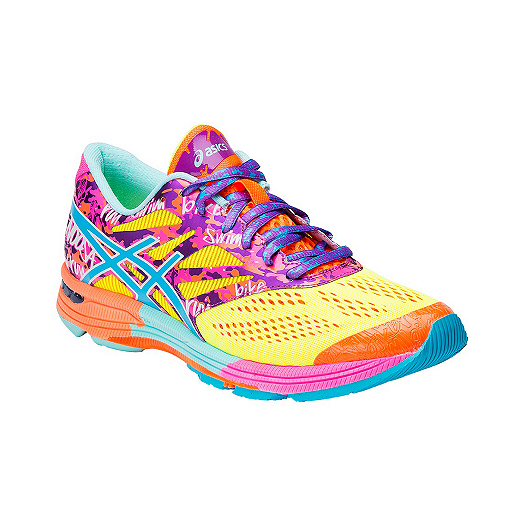 quality design 262cc 29adc ASICS Women s Gel Noosa Tri 10 Running Shoes - Yellow Pink Pattern Blue    Sport Chek