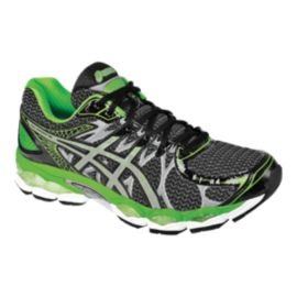 ASICS Men's Gel Nimbus 16 Lite-Show Running Shoes - Grey/Black/Green