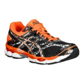ASICS Men's Gel Cumulus 16 Lite-Show Running Shoes - Black/Grey/Orange
