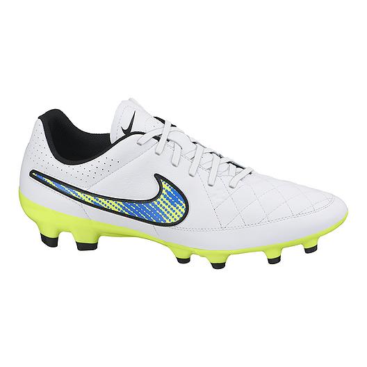683eb25fb5575 Nike Men's Tiempo Genio Leather FG Outdoor Soccer Cleats - White ...