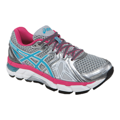 ASICS Women s Gel Fortify Running Shoes - Silver Pink Blue  6d9c38a04734