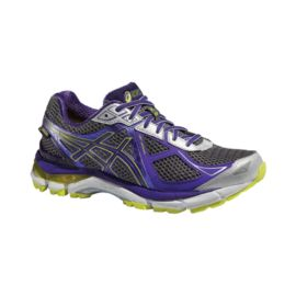 ASICS Women's GT-2000 2 GTX Running Shoes - Dark Grey/Purple/Green